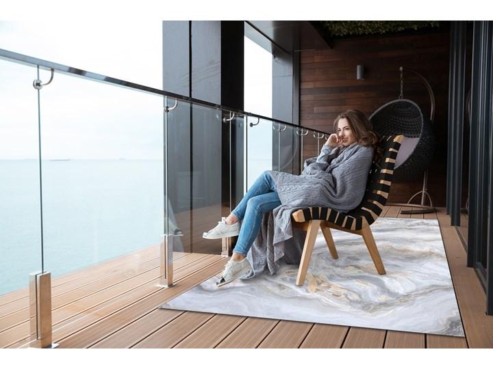Nowoczesny dywan outdoor wzór Marmurowe morze 60x90 cm Prostokątny Dywany Pomieszczenie Sypialnia 80x120 cm Winyl Kolor Szary