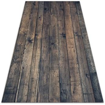Dywan zewnętrzny tarasowy wzór Ciemne deski