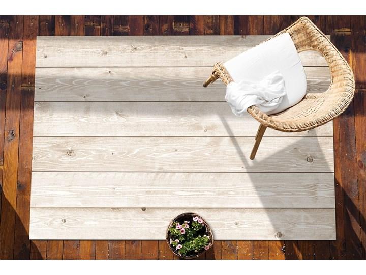 Wykładzina tarasowa zewnętrzna Jasne deski Winyl Prostokątny Dywany 60x90 cm Kolor Beżowy 80x120 cm Kategoria Dywany