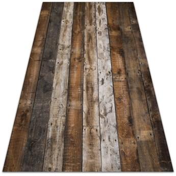 Dywan zewnętrzny tarasowy wzór Deski ciemna