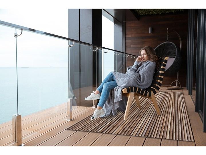 Dywan na taras do ogrodu na balkon Bambusowa mata 60x90 cm Winyl 80x120 cm Dywany Prostokątny Kolor Brązowy
