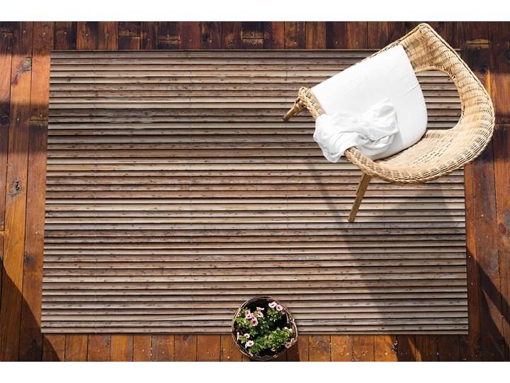 Dywan na taras do ogrodu na balkon Bambusowa mata Dywany 80x120 cm Prostokątny Kolor Brązowy Winyl 60x90 cm Pomieszczenie Przedpokój