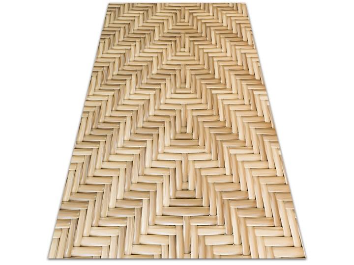 Tarasowy dywan zewnętrzny Wiklinowa tekstura Winyl 80x120 cm Dywany Prostokątny 60x90 cm Kolor Beżowy