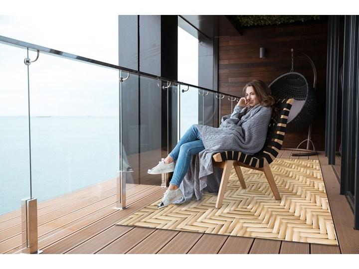 Tarasowy dywan zewnętrzny Wiklinowa tekstura Winyl Kategoria Dywany 80x120 cm Prostokątny Dywany 60x90 cm Pomieszczenie Sypialnia