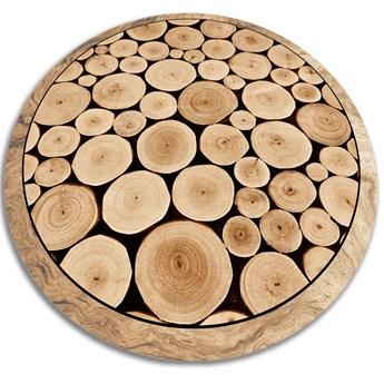Modny uniwersalny dywan winylowy przekrój pnia