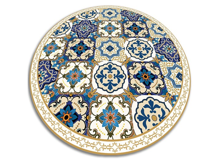 Mata winylowa do domu portugalskie kafelki Pomieszczenie Przedpokój 60x60 cm Dywany Okrągły Kolor Beżowy