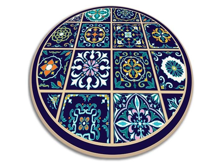 Modny dywan winylowy portugalskie kafelki Syntetyk Kategoria Dywany 60x60 cm Dywany Okrągły Kolor Granatowy