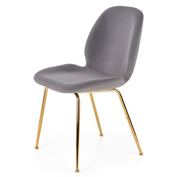 SELSEY Krzesło tapicerowane Brabble szare