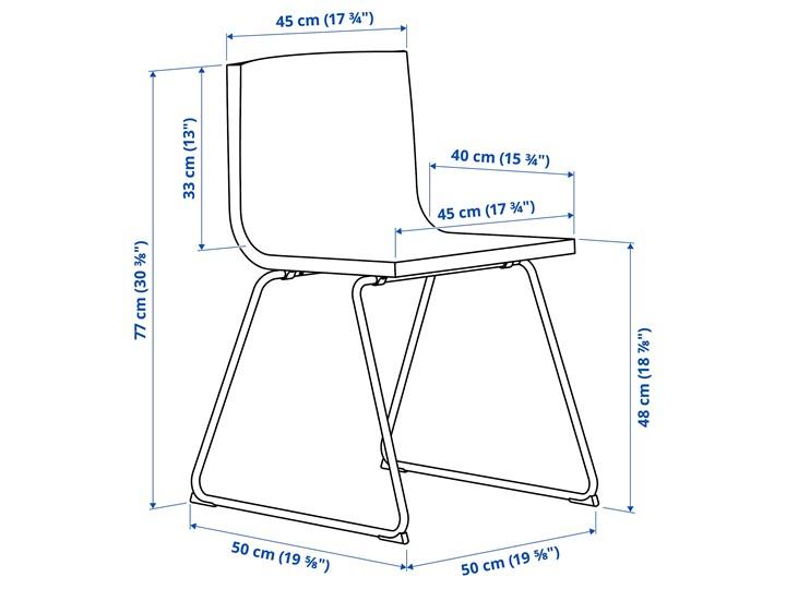 BERNHARD Krzesło Szerokość 50 cm Wysokość 48 cm Szerokość 45 cm Skóra Głębokość 40 cm Wysokość 77 cm Głębokość 50 cm Kategoria Krzesła kuchenne