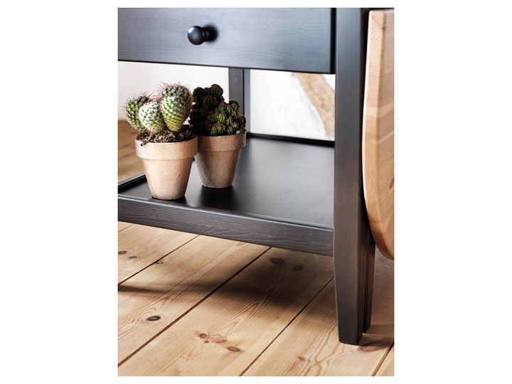 ARKELSTORP Stolik kawowy Drewno Kolor Czarny Wysokość 52 cm Kształt blatu Owalne