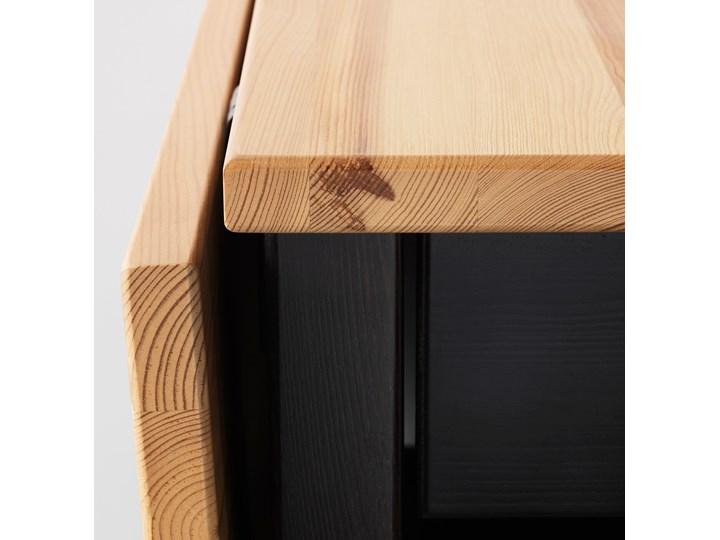 ARKELSTORP Stolik kawowy Wysokość 52 cm Drewno Kształt blatu Owalne Kolor Czarny
