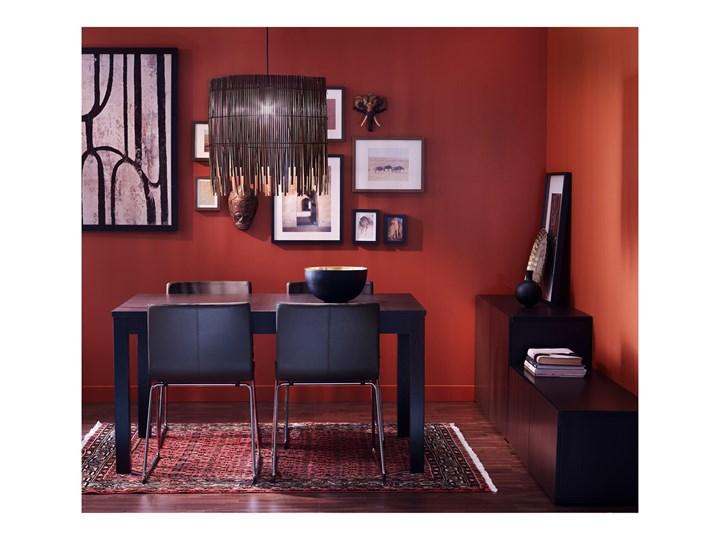 BERNHARD Krzesło Szerokość 45 cm Głębokość 40 cm Wysokość 77 cm Skóra Głębokość 50 cm Wysokość 48 cm Kategoria Krzesła kuchenne Szerokość 50 cm Kolor Czarny