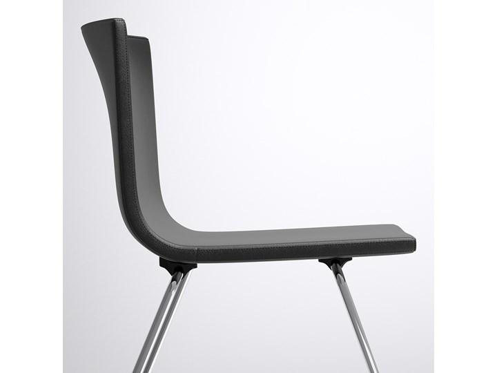 BERNHARD Krzesło Wysokość 48 cm Szerokość 45 cm Wysokość 77 cm Kategoria Krzesła kuchenne Głębokość 40 cm Szerokość 50 cm Skóra Głębokość 50 cm Kolor Czarny