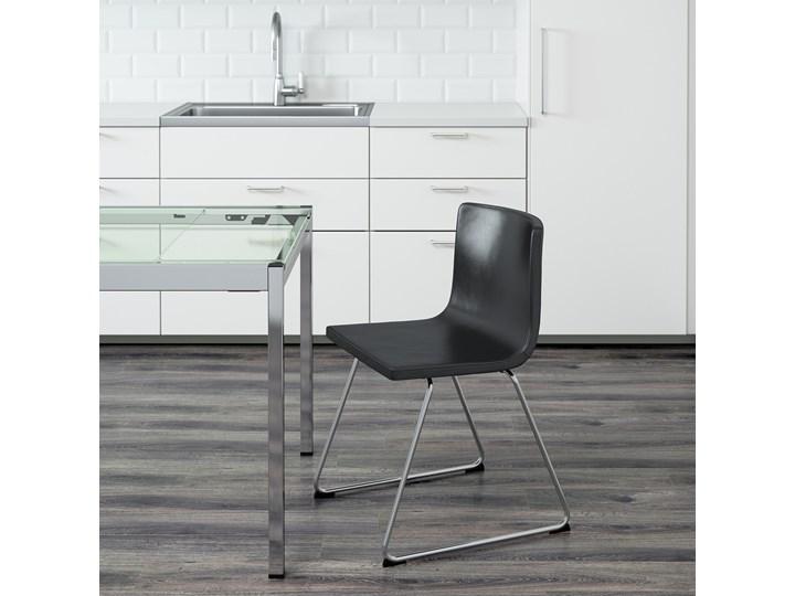 BERNHARD Krzesło Wysokość 48 cm Szerokość 50 cm Szerokość 45 cm Głębokość 50 cm Wysokość 77 cm Głębokość 40 cm Skóra Kategoria Krzesła kuchenne