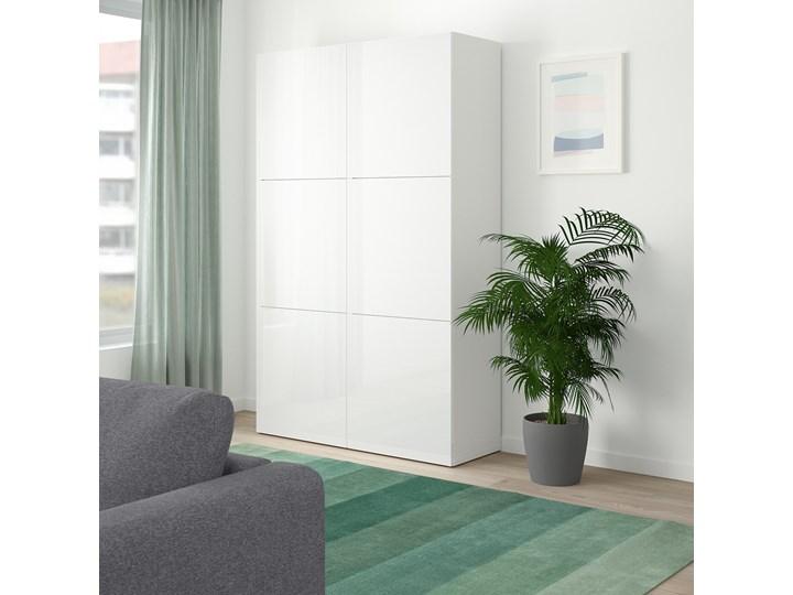 IKEA BESTÅ Kombinacja z drzwiami, Biały/Selsviken połysk/biel, 120x42x193 cm Ilość drzwi Dwudrzwiowe Płyta laminowana Głębokość 42 cm Szerokość 120 cm Lustro