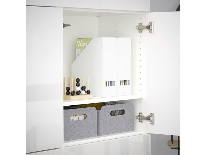 IKEA BESTÅ Kombinacja z drzwiami, Biały/Selsviken połysk/biel, 120x42x193 cm Głębokość 42 cm Szerokość 120 cm Płyta laminowana Rodzaj drzwi Uchylne Pomieszczenie Sypialnia