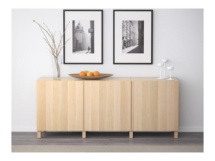 IKEA BESTÅ Kombinacja z drzwiami, Dąb bejcowany na biało/Lappviken/Stubbarp dąb bejcowany na biało, 180x42x74 cm Z szafkami Wysokość 42 cm Pomieszczenie Pokój nastolatka Szerokość 180 cm Płyta MDF Głębokość 42 cm Drewno Kolor Beżowy
