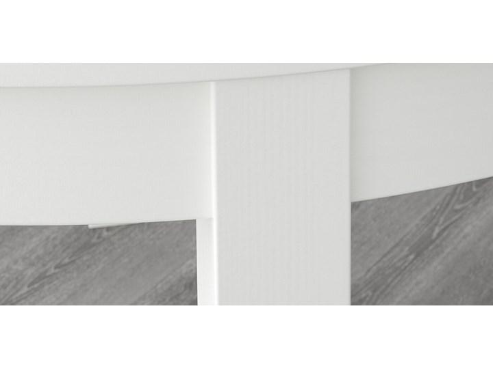 IKEA BJURSTA Stół rozkładany, Biały, 115/166 cm Drewno Płyta MDF Styl Nowoczesny Szerokość 115 cm Długość 115 cm Rozkładanie Rozkładane
