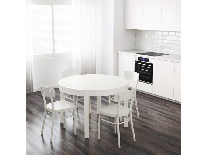 IKEA BJURSTA Stół rozkładany, Biały, 115/166 cm Płyta MDF Drewno Szerokość 115 cm Długość 115 cm Rozkładanie Rozkładane