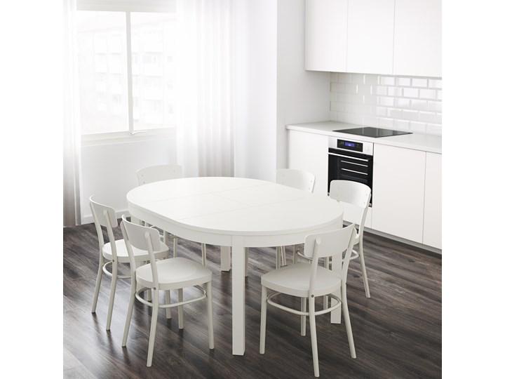 IKEA BJURSTA Stół rozkładany, Biały, 115/166 cm Szerokość 115 cm Drewno Rozkładanie Rozkładane Płyta MDF Długość 115 cm Kategoria Stoły kuchenne