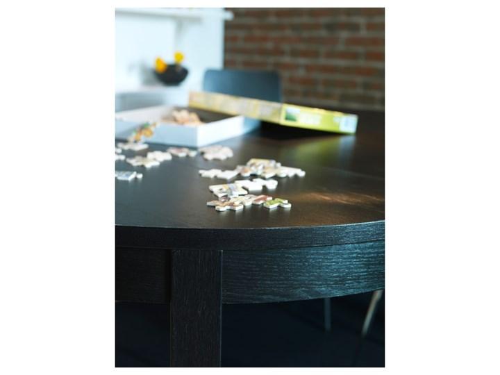 IKEA BJURSTA Stół rozkładany, Brązowoczarny, 115/166 cm Długość 115 cm Szerokość 115 cm Płyta MDF Rozkładanie Rozkładane