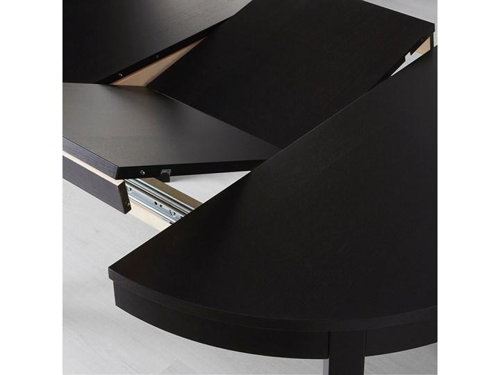 IKEA BJURSTA Stół rozkładany, Brązowoczarny, 115/166 cm Długość 115 cm Szerokość 115 cm Pomieszczenie Stoły do jadalni Płyta MDF Kształt blatu Okrągły