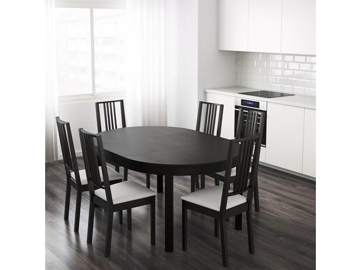 IKEA BJURSTA Stół rozkładany, Brązowoczarny, 115/166 cm Płyta MDF Szerokość 115 cm Długość 115 cm Rozkładanie Rozkładane