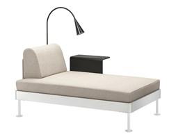IKEA DELAKTIG Szezlong ze stolikiem i lampą, Gunnared beżowy