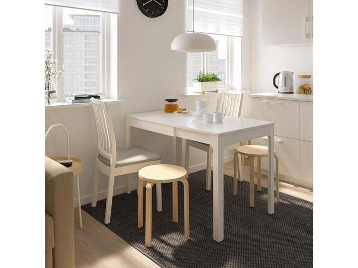 IKEA EKEDALEN / EKEDALEN Stół i 2 krzesła, biały/Orrsta jasnoszary, 80/120 cm Pomieszczenie Jadalnia