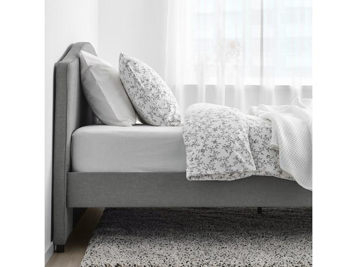 HAUGA Tapicerowana rama łóżka Łóżko tapicerowane Kategoria Łóżka do sypialni Kolor Szary