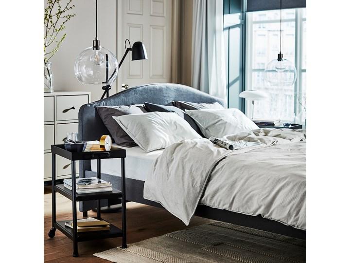 HAUGA Tapicerowana rama łóżka Kategoria Łóżka do sypialni Łóżko tapicerowane Kolor Szary
