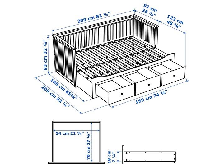 HEMNES Leżanka z 3 szufladami, 2 materace Podwójne Kategoria Łóżka dla dzieci Rozmiar materaca 80x200 cm