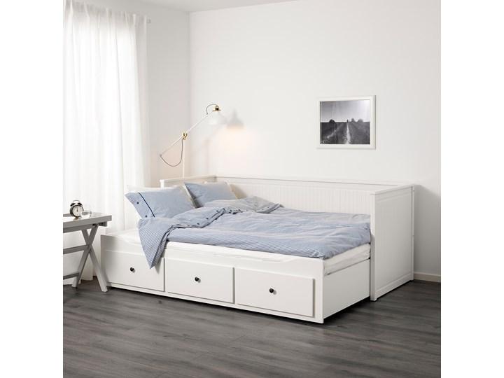 HEMNES Leżanka z 3 szufladami, 2 materace Podwójne Kolor Biały