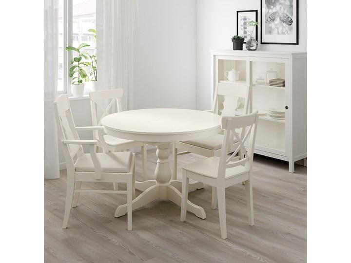 IKEA INGATORP / INGOLF Stół i 4 krzesła, biały/Nordvalla beżowy, 110/155 cm Kategoria Stoły z krzesłami