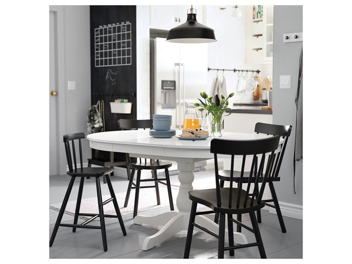 IKEA INGATORP Stół rozkładany, Biały, 110/155 cm Płyta MDF Styl Prowansalski Rozkładanie Rozkładane