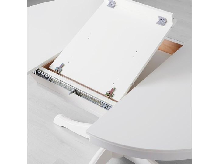IKEA INGATORP Stół rozkładany, Biały, 110/155 cm Płyta MDF Pomieszczenie Stoły do salonu Kształt blatu Okrągły