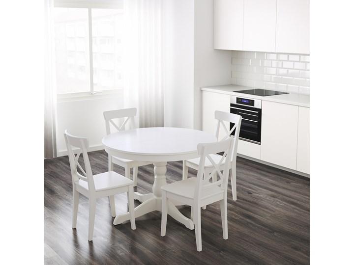 IKEA INGATORP Stół rozkładany, Biały, 110/155 cm Płyta MDF Styl Prowansalski