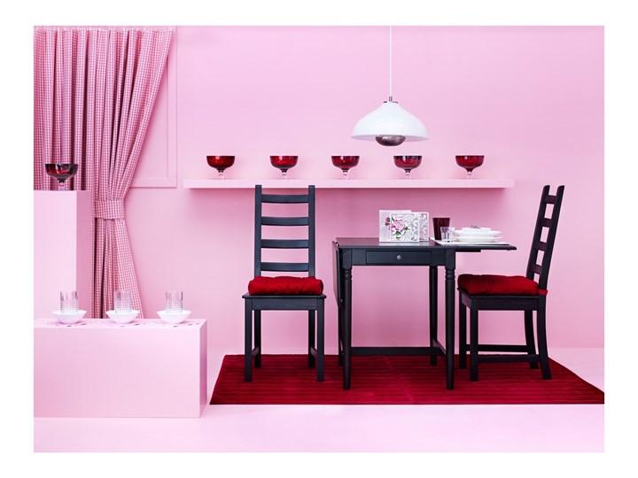 IKEA INGATORP Stół z opuszczanym blatem, Czarnobrąz, 65/123x78 cm Sosna Kolor Czarny Długość 123 cm Płyta MDF Wysokość 75 cm Długość 65 cm Kształt blatu Prostokątny