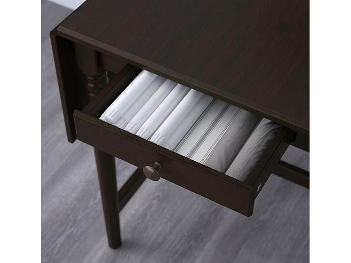 IKEA INGATORP Stół z opuszczanym blatem, Czarnobrąz, 65/123x78 cm Sosna Płyta MDF Kolor Czarny Długość 123 cm Długość 65 cm Wysokość 75 cm Pomieszczenie Stoły do kuchni