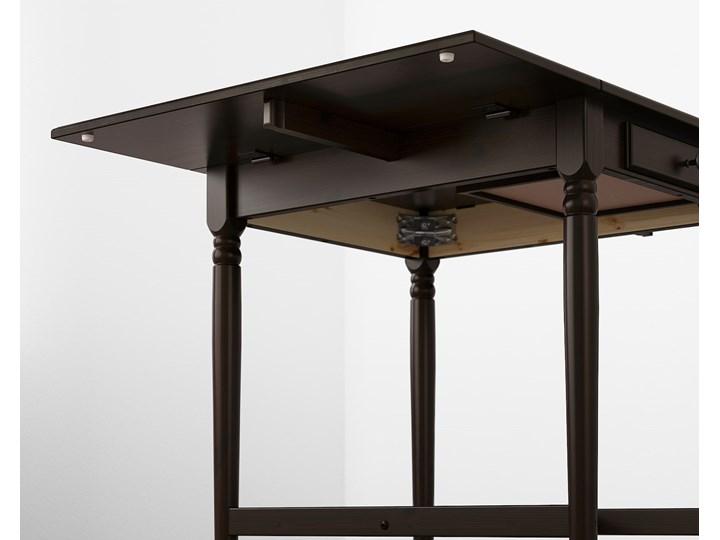 IKEA INGATORP Stół z opuszczanym blatem, Czarnobrąz, 65/123x78 cm Kategoria Stoły kuchenne Płyta MDF Długość 65 cm Sosna Wysokość 75 cm Długość 123 cm Pomieszczenie Stoły do kuchni