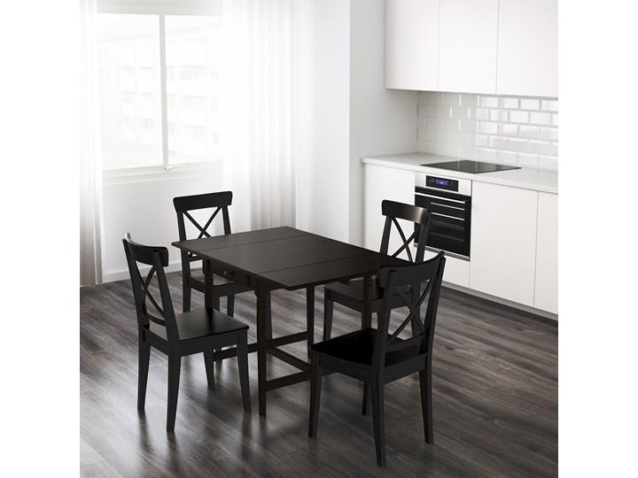 IKEA INGATORP Stół z opuszczanym blatem, Czarnobrąz, 65/123x78 cm Płyta MDF Wysokość 75 cm Kolor Czarny Sosna Długość 65 cm Długość 123 cm Liczba miejsc Do 4 osób