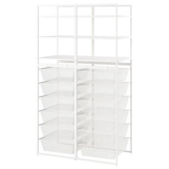 IKEA JONAXEL Kombinacja szafek otwartych, biały, 99x51x173 cm