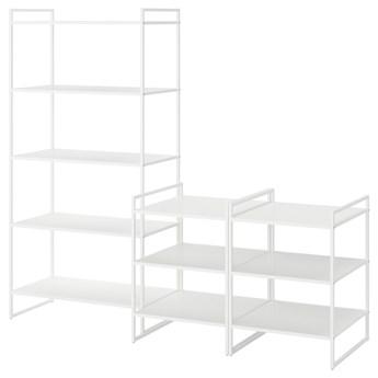 IKEA JONAXEL Kombinacja szafek otwartych, biały, 182x51x160 cm