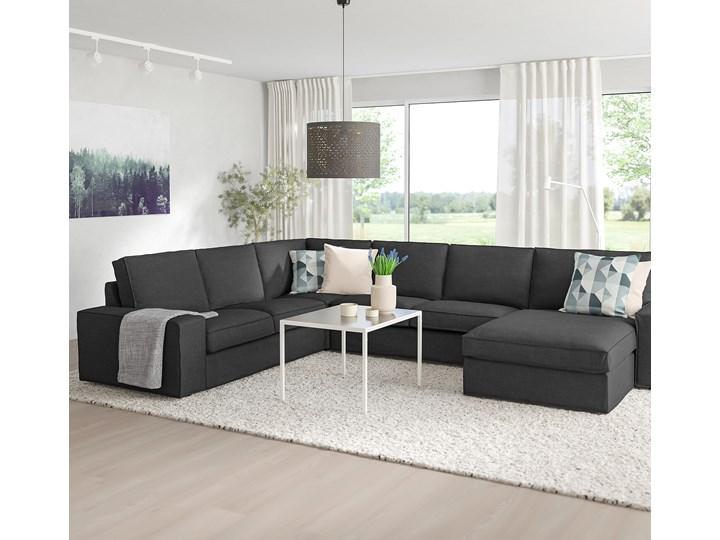 IKEA KIVIK Sofa narożna 5-osobowa, z szezlongiem/Hillared antracyt, Głębokość szezlonga: 163 cm Nóżki Bez nóżek