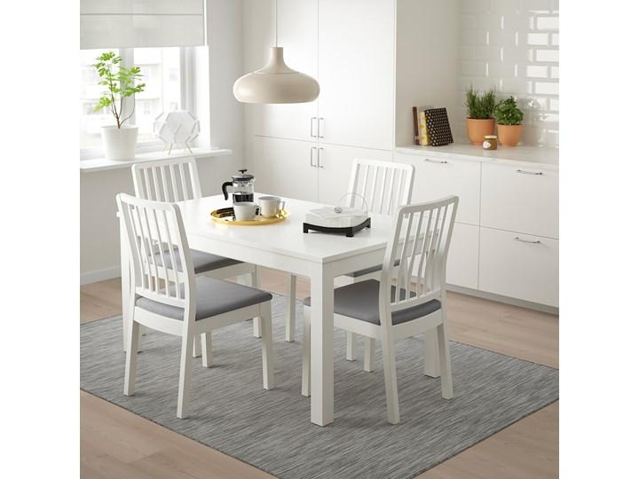 IKEA LANEBERG / EKEDALEN Stół i 4 krzesła, biały/biały jasnoszary, 130/190x80 cm Kategoria Stoły z krzesłami Pomieszczenie Jadalnia