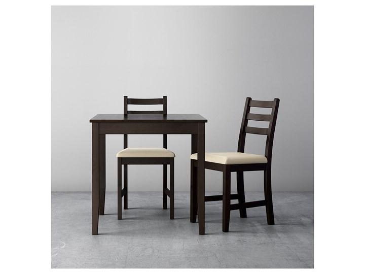 IKEA LERHAMN Stół i 2 krzesła, czarnybrąz/Vittaryd beżowy, 74x74 cm Kategoria Stoły z krzesłami Pomieszczenie Jadalnia