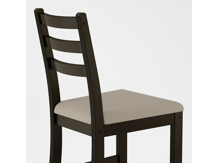 IKEA LERHAMN Stół i 2 krzesła, czarnybrąz/Vittaryd beżowy, 74x74 cm Pomieszczenie Jadalnia Kategoria Stoły z krzesłami