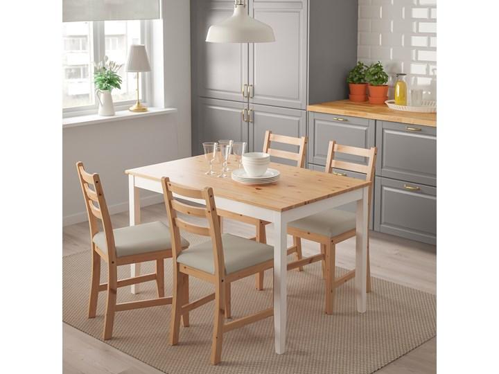 IKEA LERHAMN Stół i 4 krzesła, bejca jasna patyna biała bejca/Vittaryd beżowy, 118x74 cm Kolor Brązowy Kategoria Stoły z krzesłami
