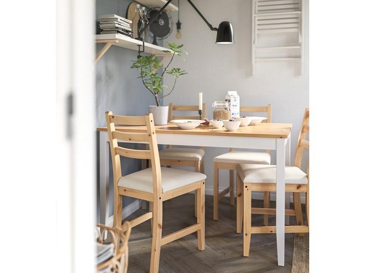 IKEA LERHAMN Stół i 4 krzesła, bejca jasna patyna biała bejca/Vittaryd beżowy, 118x74 cm Kategoria Stoły z krzesłami