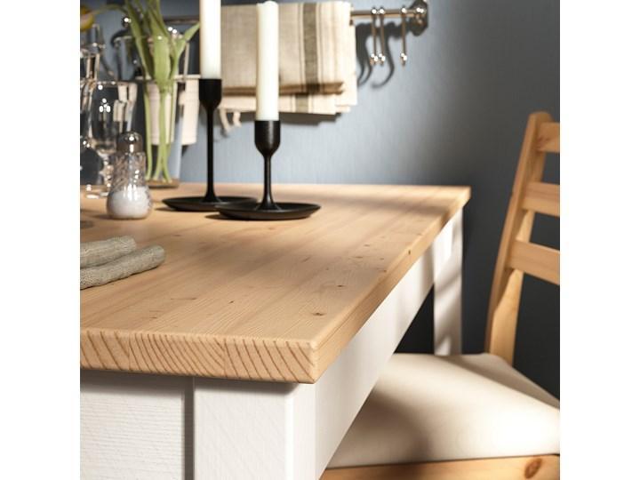 IKEA LERHAMN Stół i 4 krzesła, bejca jasna patyna biała bejca/Vittaryd beżowy, 118x74 cm Kolor Brązowy Pomieszczenie Jadalnia